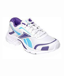Reebok White and Blue Running Sports Shoes for Women