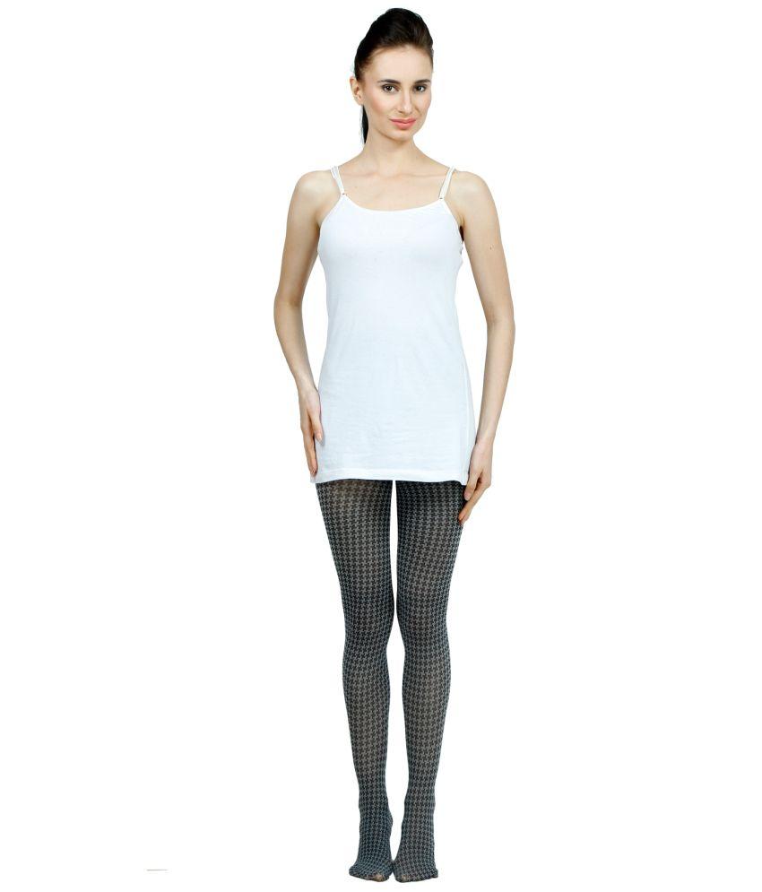 Madaam Grey Lycra Summer Stocking Panty Hose