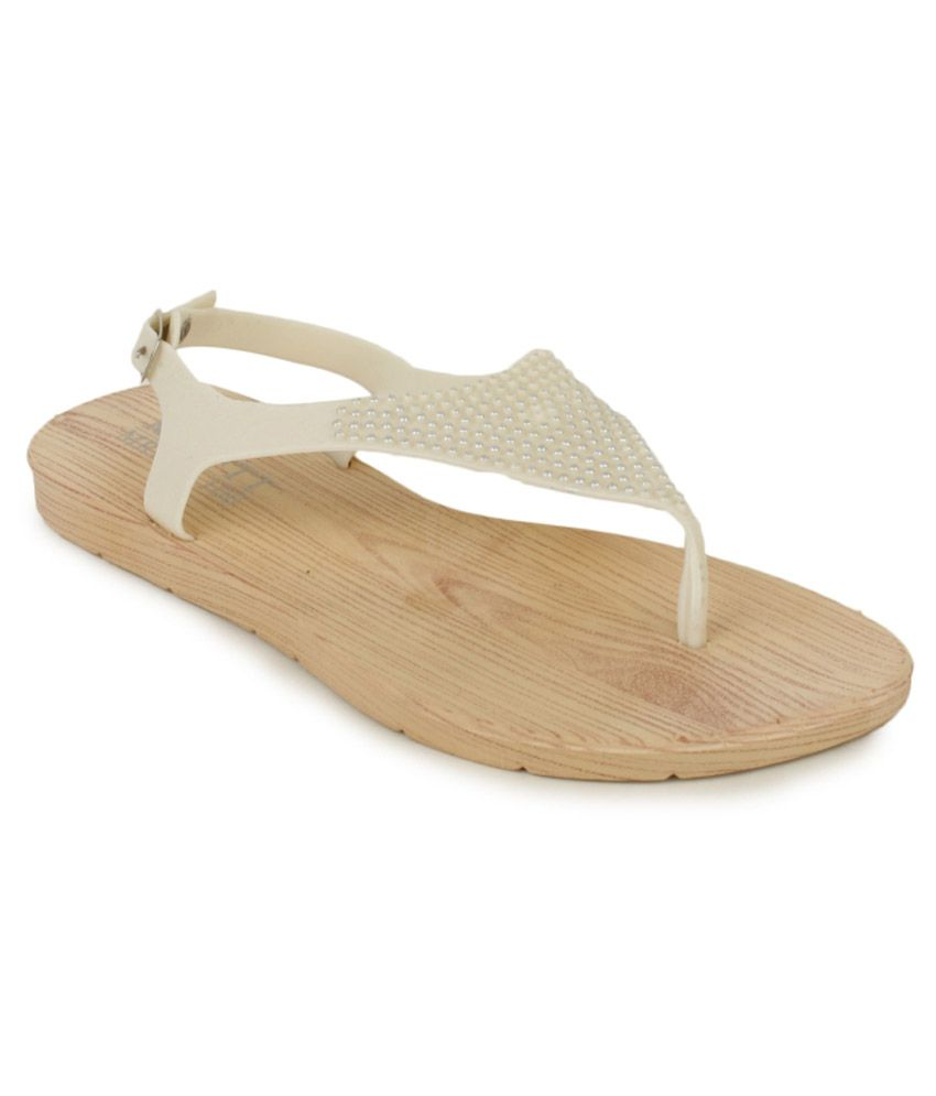 SRS Ghostwhite Flat Sandals For Women
