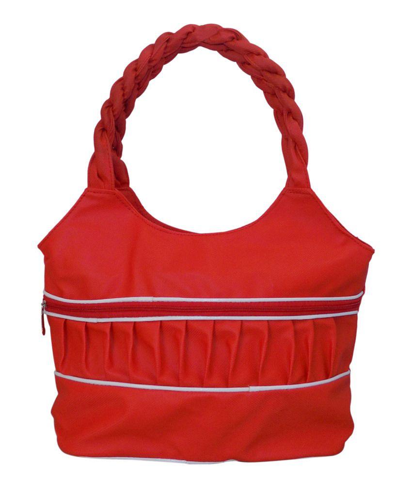 Crafts'man Red Designer Shoulder Bag