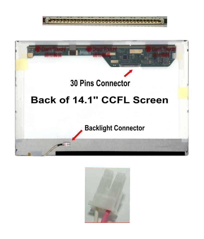 Fugen Laptop Internal 14 1 Inch 141WXGA LCD Screen for HP Compaq