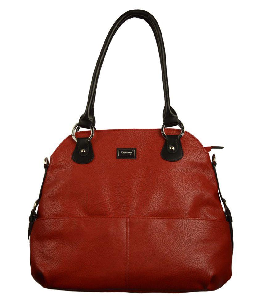 Kinberry Red Zip Shoulder Bag