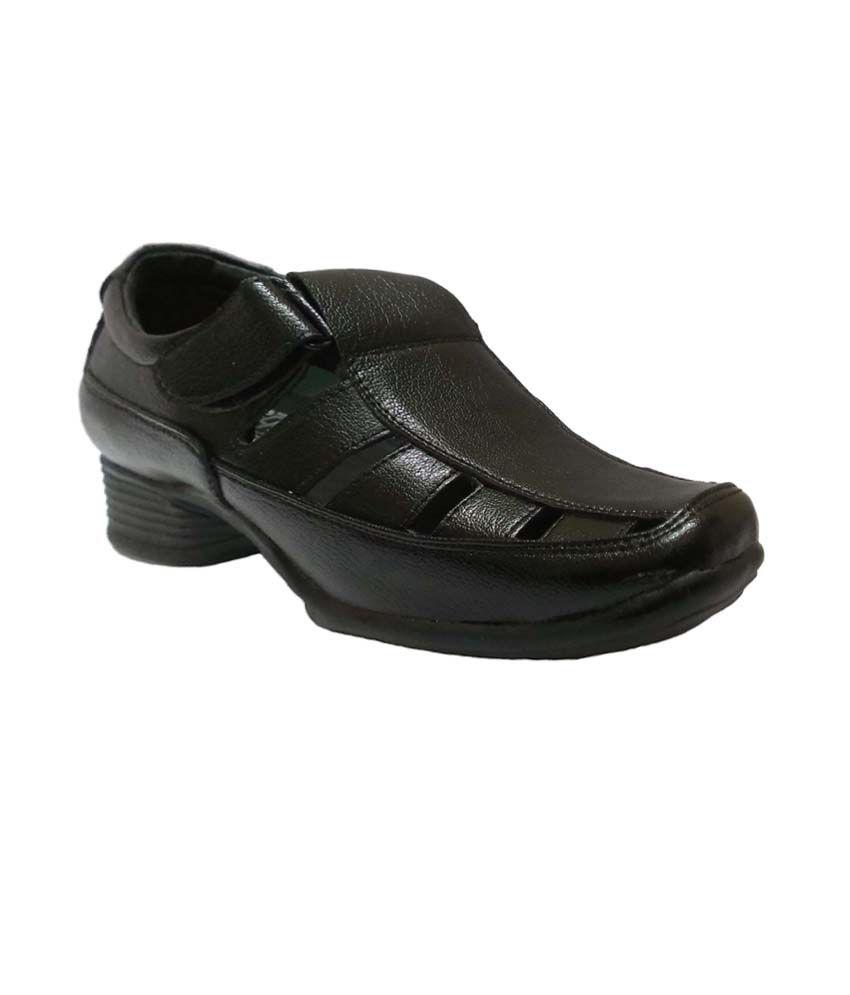 32e4b5b32e1e1 Bata Black Leather Stylish Sandals For Men Price in India- Buy Bata Black  Leather Stylish Sandals For Men Online at Snapdeal