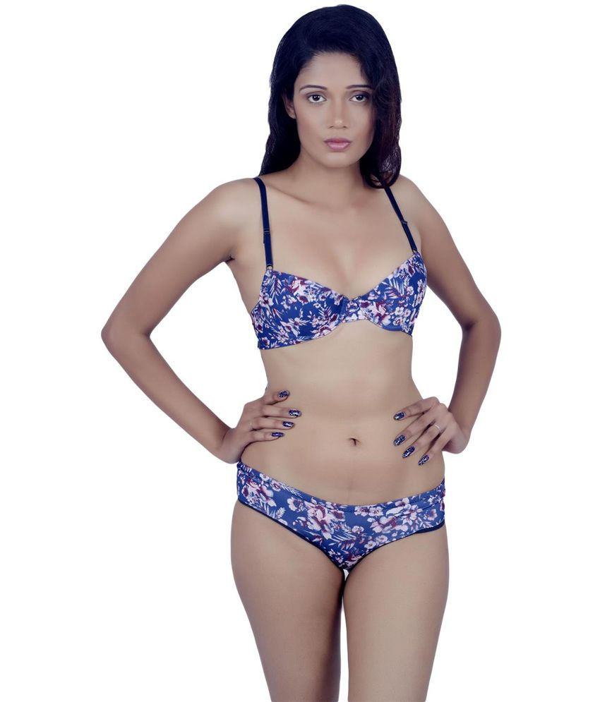 863819730 Buy Kotty Multi Color Printed Soft Bra   Panty Set Online at Best Prices in  India - Snapdeal