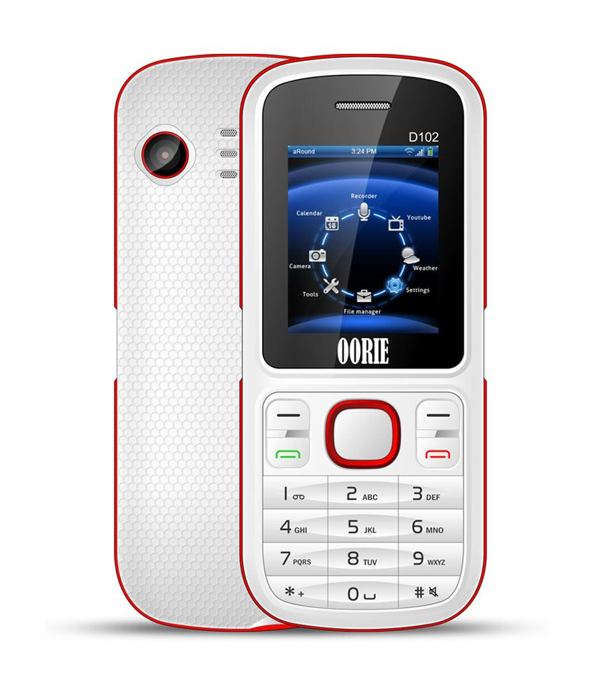 Oorie Dura102 Dual Sim Mobile Phone - White and Pink
