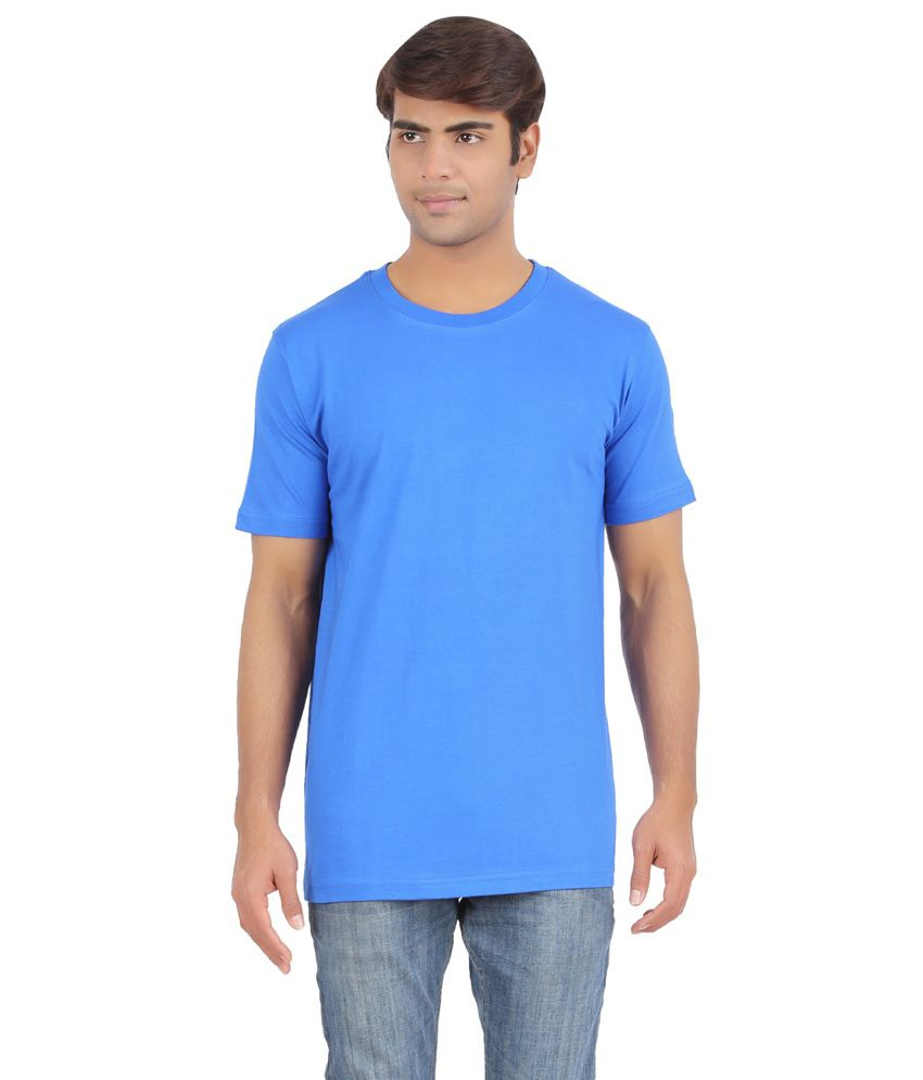 Sunrise Blue Cotton T-Shirt For Men