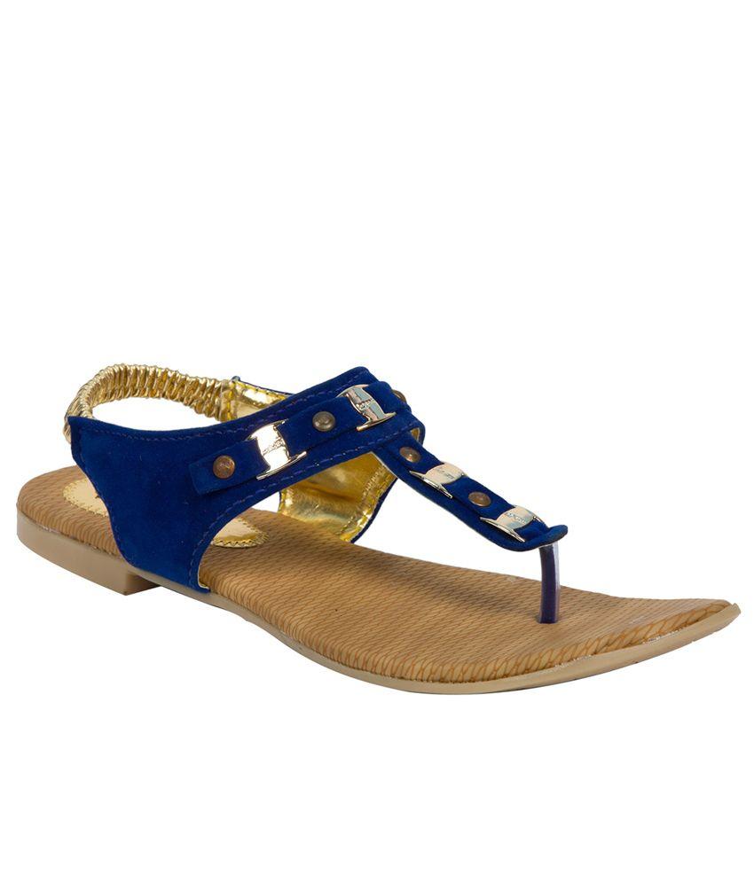 Adelee Blue Studded Sandals