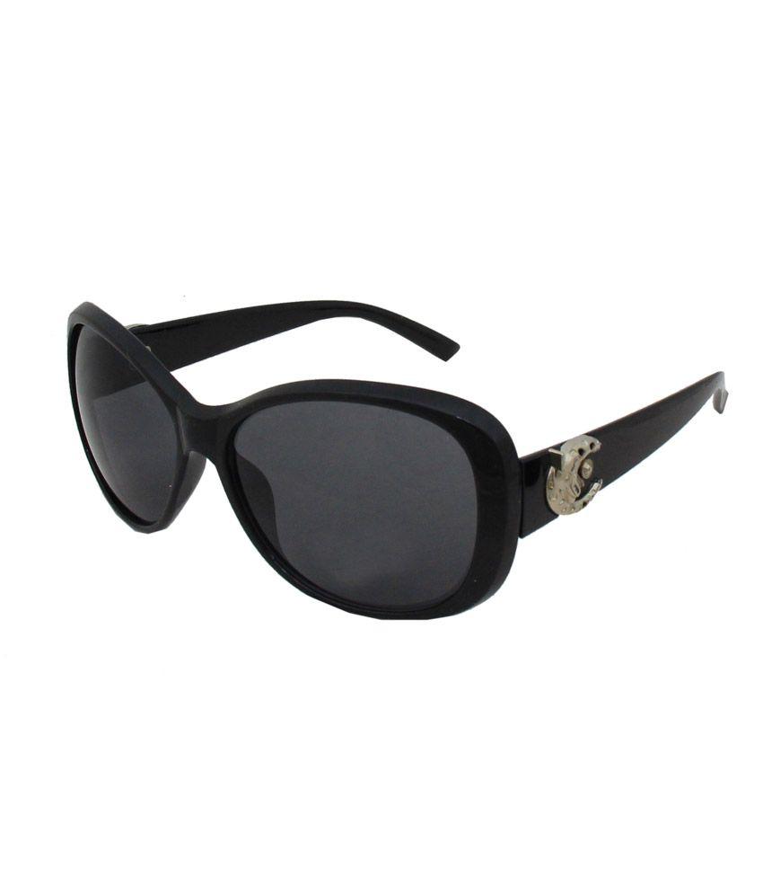 Jstarmart Blue Lens Black Sunglasses For Women