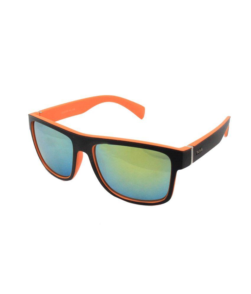 Jstarmart Mirror Lens Orange Sunglasses For Men