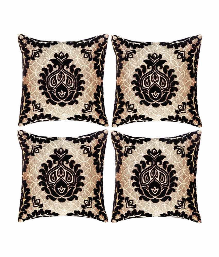 Dream Care Multicolor Designer Cushion Cover-set of 4