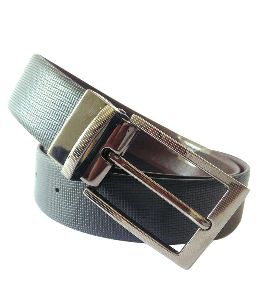Musk Duck Trendy Black Men Leather Reversible Belt