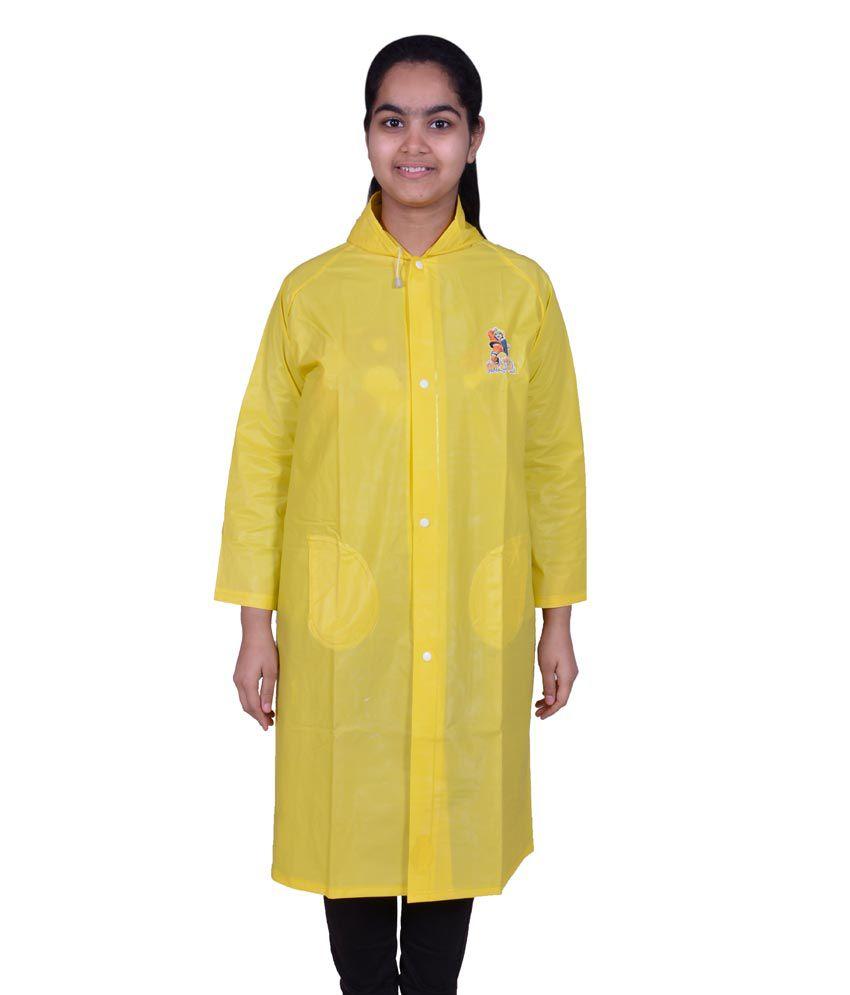 Rainfun Long Yellow Raincoat For Kids - Buy Online @ Rs ...  Rainfun Long Ye...