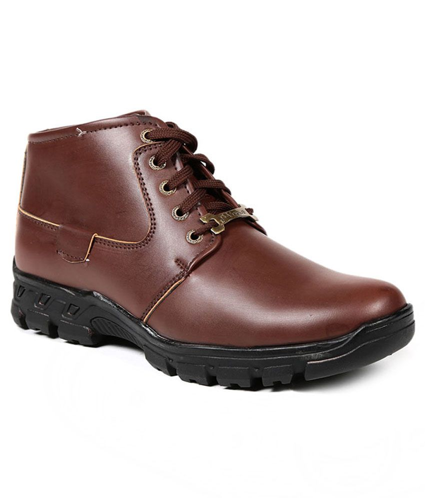 D Vogue London Brown Synthetic Leather Daily Wear Boots