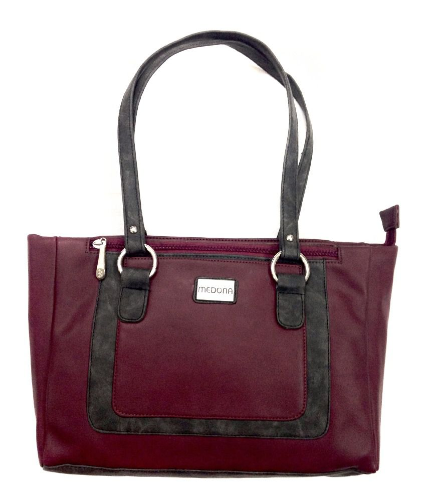 Medona Maroon Women Bag