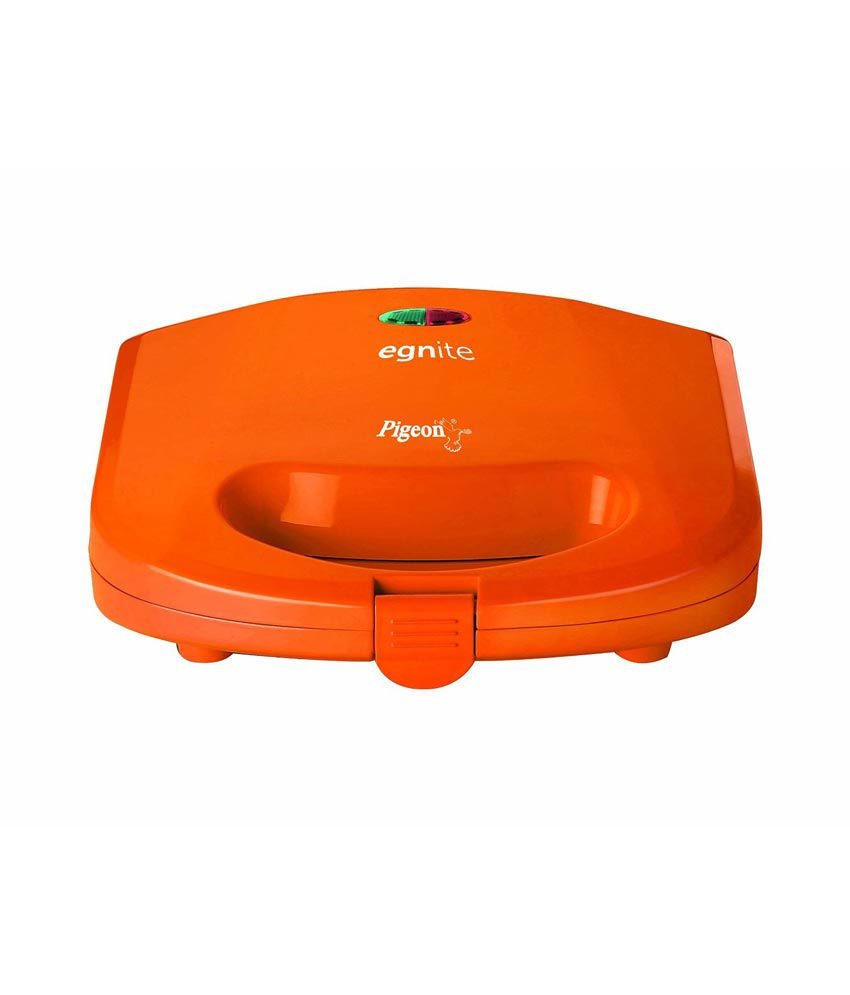pigeon egnite sandwich grill toaster orange price in india buy pigeon egnite sandwich grill. Black Bedroom Furniture Sets. Home Design Ideas