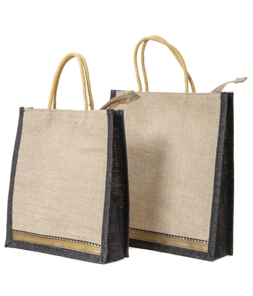 Buy Wmm Craft Black Jute Bags At Best Prices In India Snapdeal