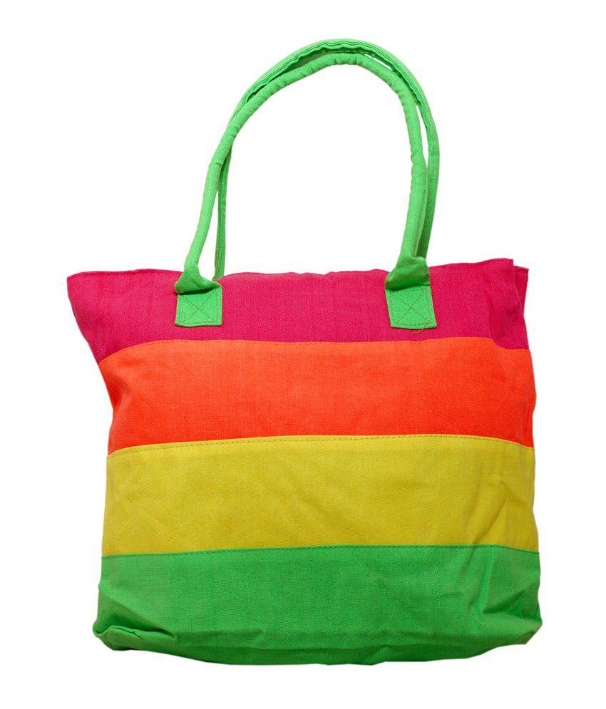 Bag Cottage Industries Fiesta UR111217P Neon Colour Cotton bag