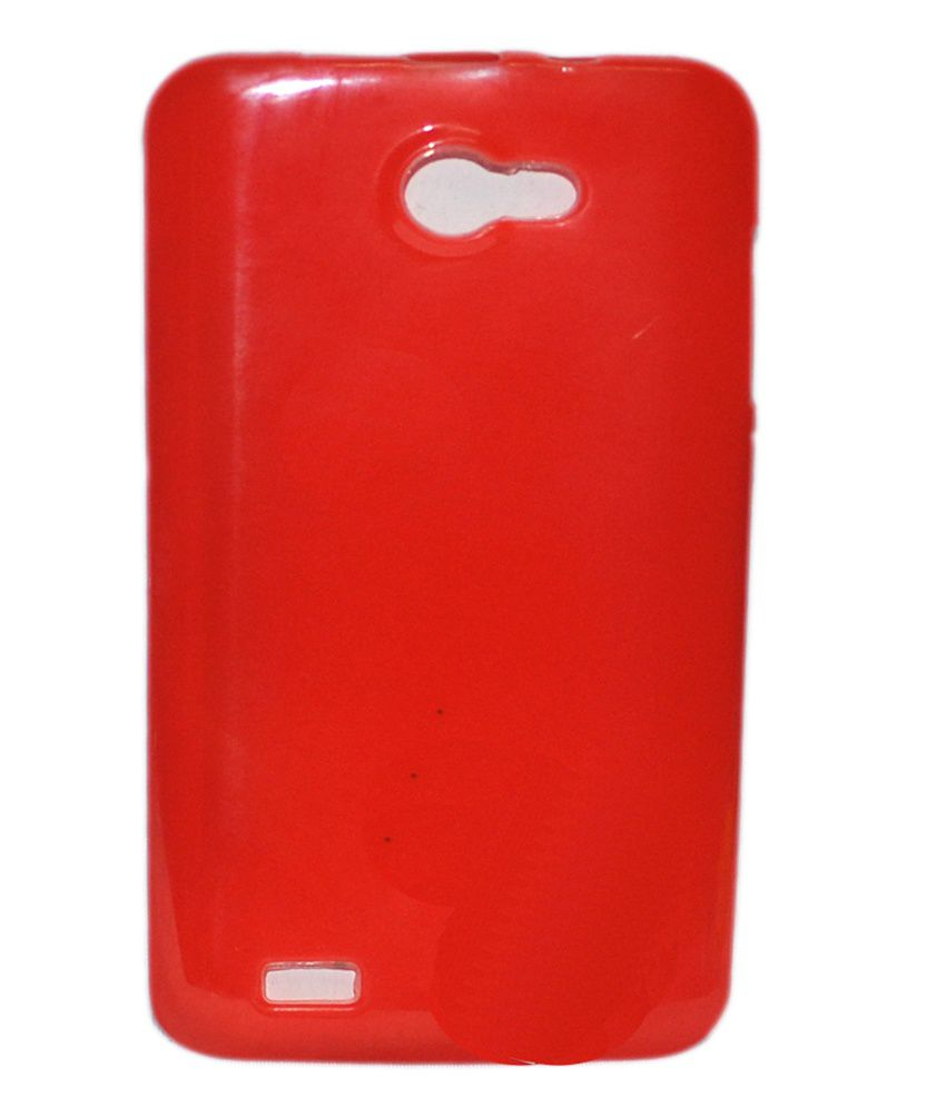 Cell First Designer Silicon Back Cover For Iball Andi 5k Panther Red Plain Back Covers Online