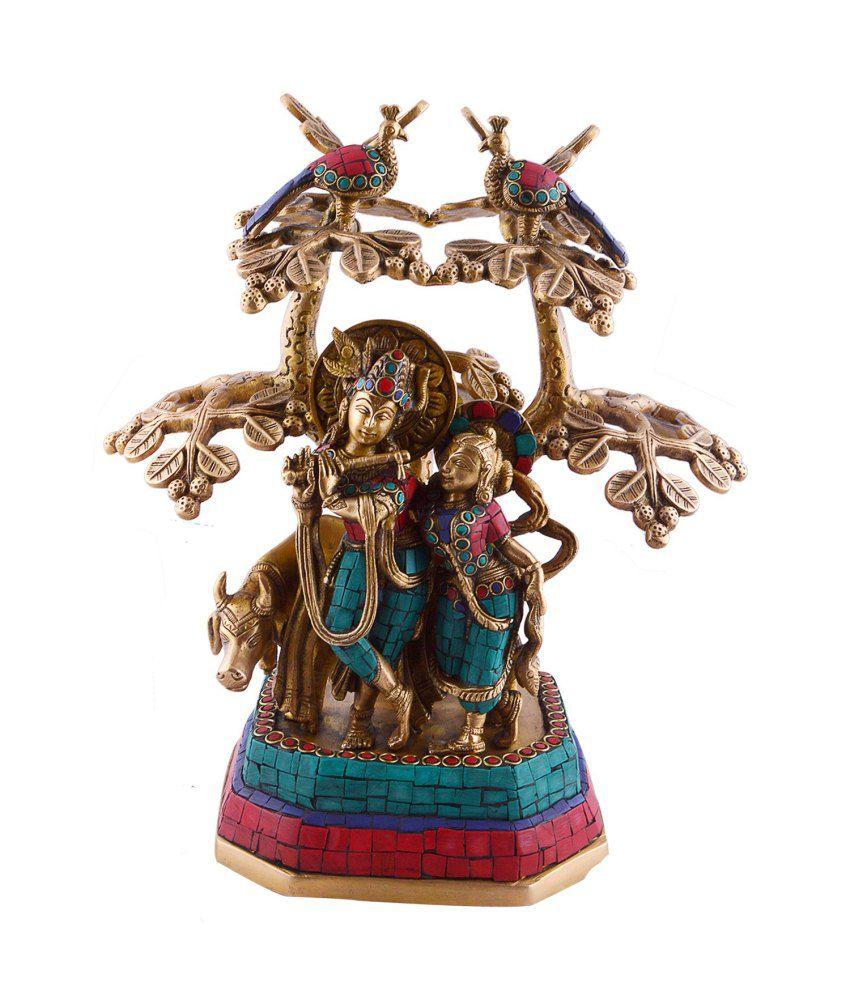 Collectible India 1 Feet Tall Radha Krishna Statue Murti Idol