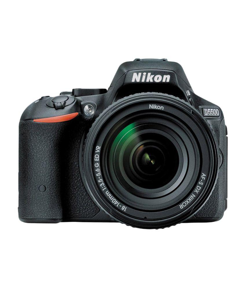 nikon d5500 dslr camera red 18-140 vr lens 8gb card carrying case 24.1 m.p.
