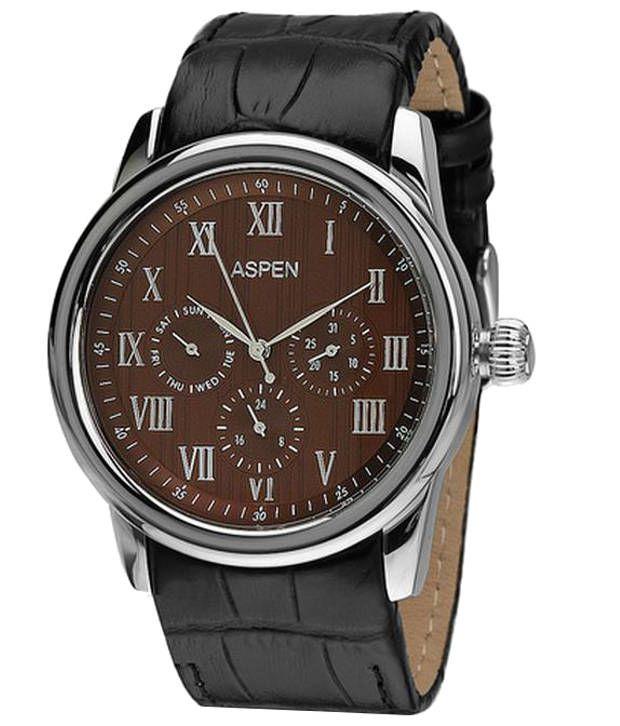 Aspen Men's Silver Color Analog Watch