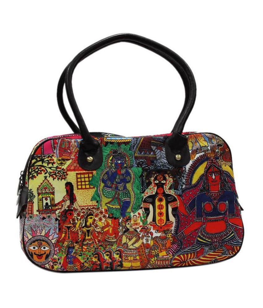 Desipop Multicolor Canvas Cloth Shoulder Bag