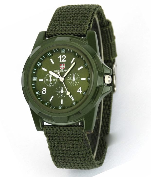 Gemius Army Wrist Watch Green Color - Buy Gemius Army Wrist Watch Green Color Online at Best Prices in India on Snapdeal