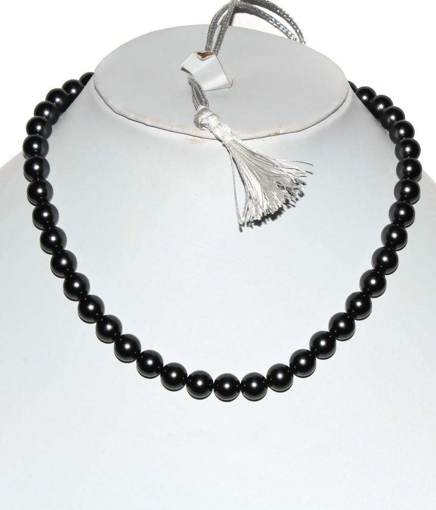Kcj Black Round Pearls Necklace