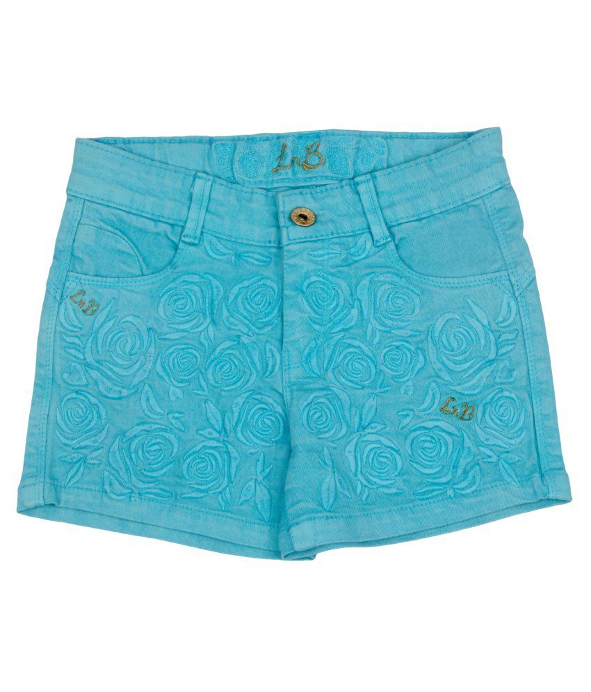 Leo n Babes Blue Cotton Short
