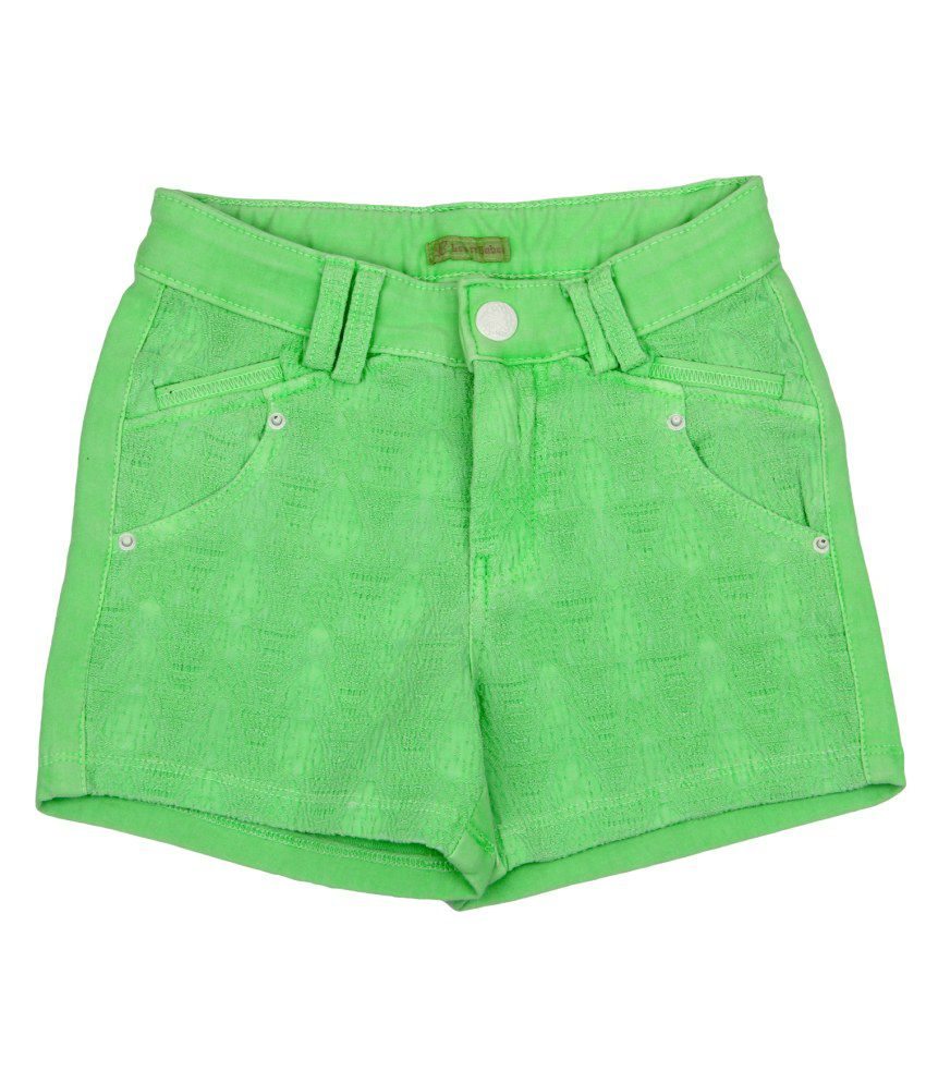 Leo n Babes Green Cotton Short