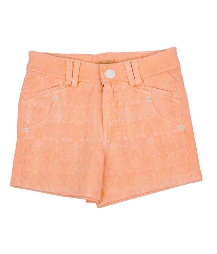 Leo n Babes Orange Cotton Short