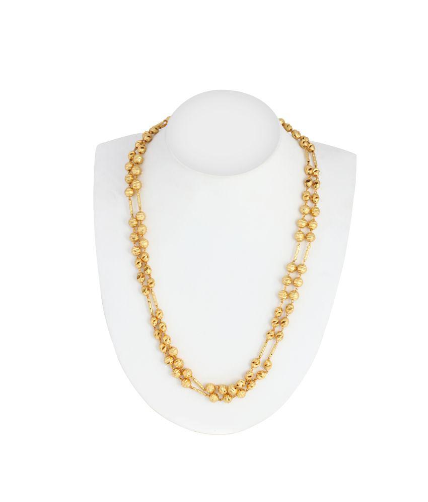 Pooja 23.5 Kt Gold Plated Designer Chain