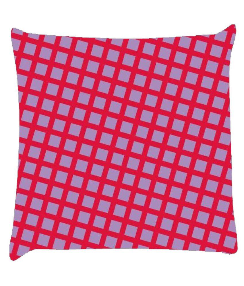 Snoogg Chequered Pattern Design 1644 Cushion Cover
