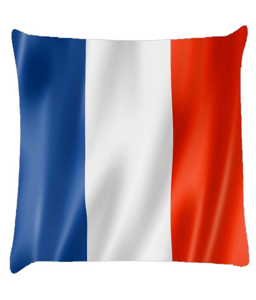 Snoogg French Flag 2983 Cushion Cover