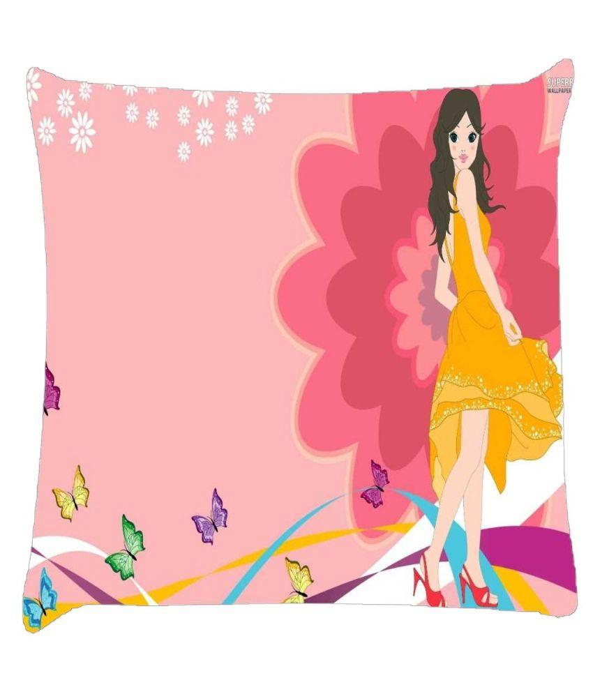 Snoogg Urban Girl 2825 Cushion Cover