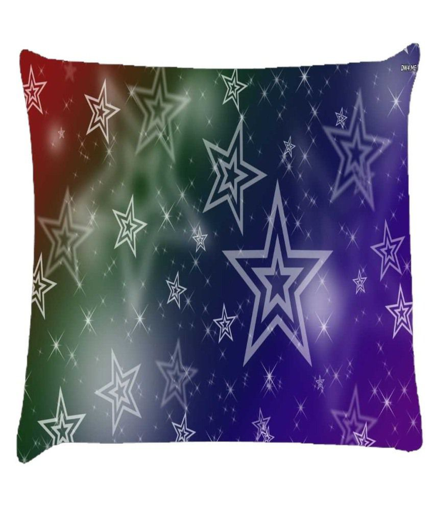 Snoogg White Stars 2378 Cushion Cover