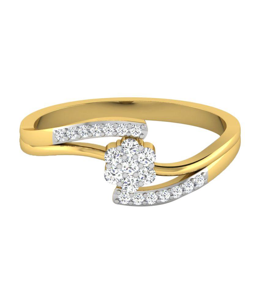 Sparkles Designer 18Kt Gold Wedding & Engagement Precious Ring