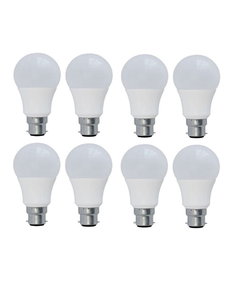 Syska White 9 Watt LED Bulb Pack of 8