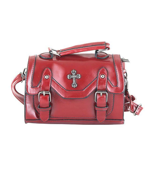 Aliza Maroon Cross Body Sling Bag