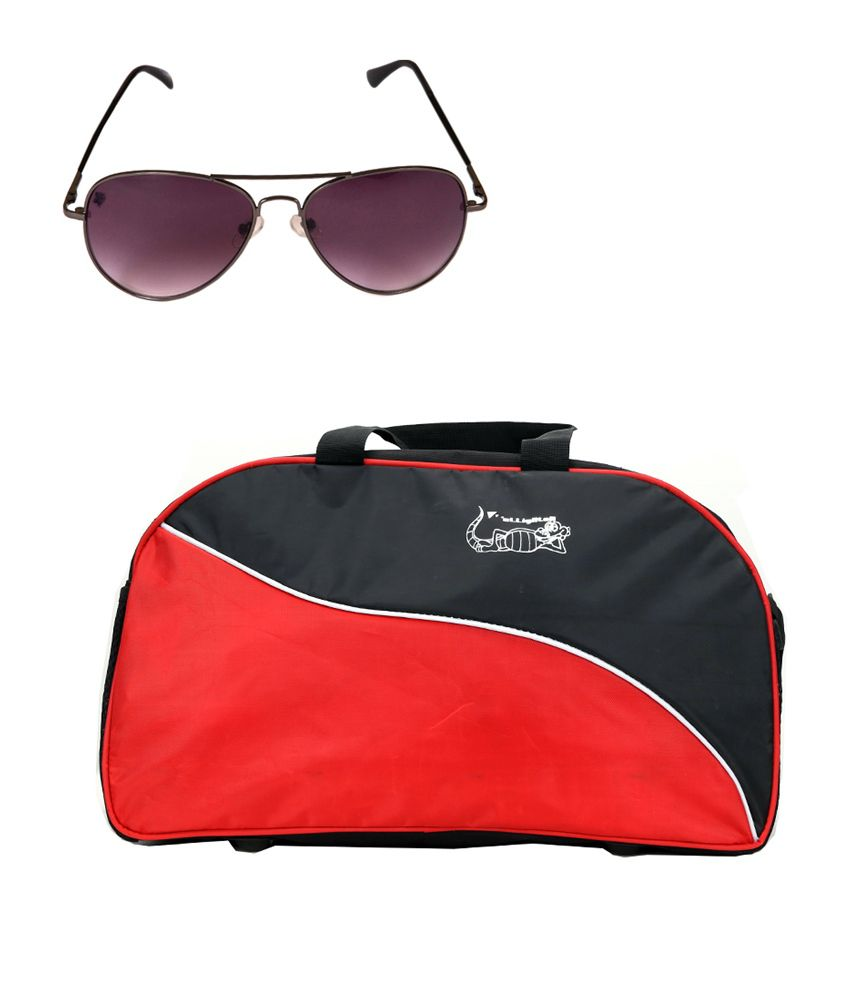 Elligator Red Travel Bags and Spartiate Sunglass Combo