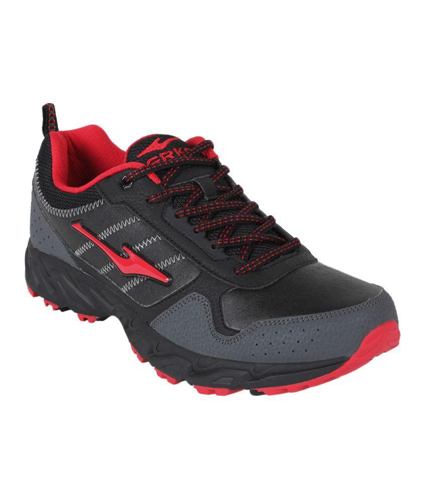 Erke Men Black Outdoor Series Cross-Country Shoes