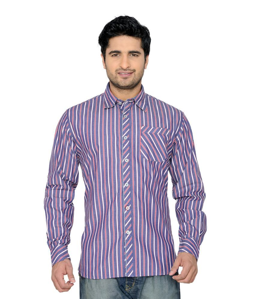 Thinc Slim Fit Stripes Full Sleeved Casuals Shirt