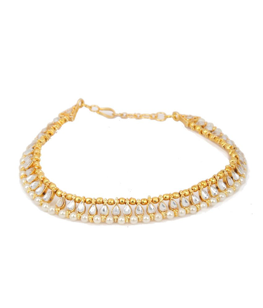 Sindoora Gold Style Diva Alloy Anklet Buy Sindoora Gold Style Diva Alloy Anklet Online In India