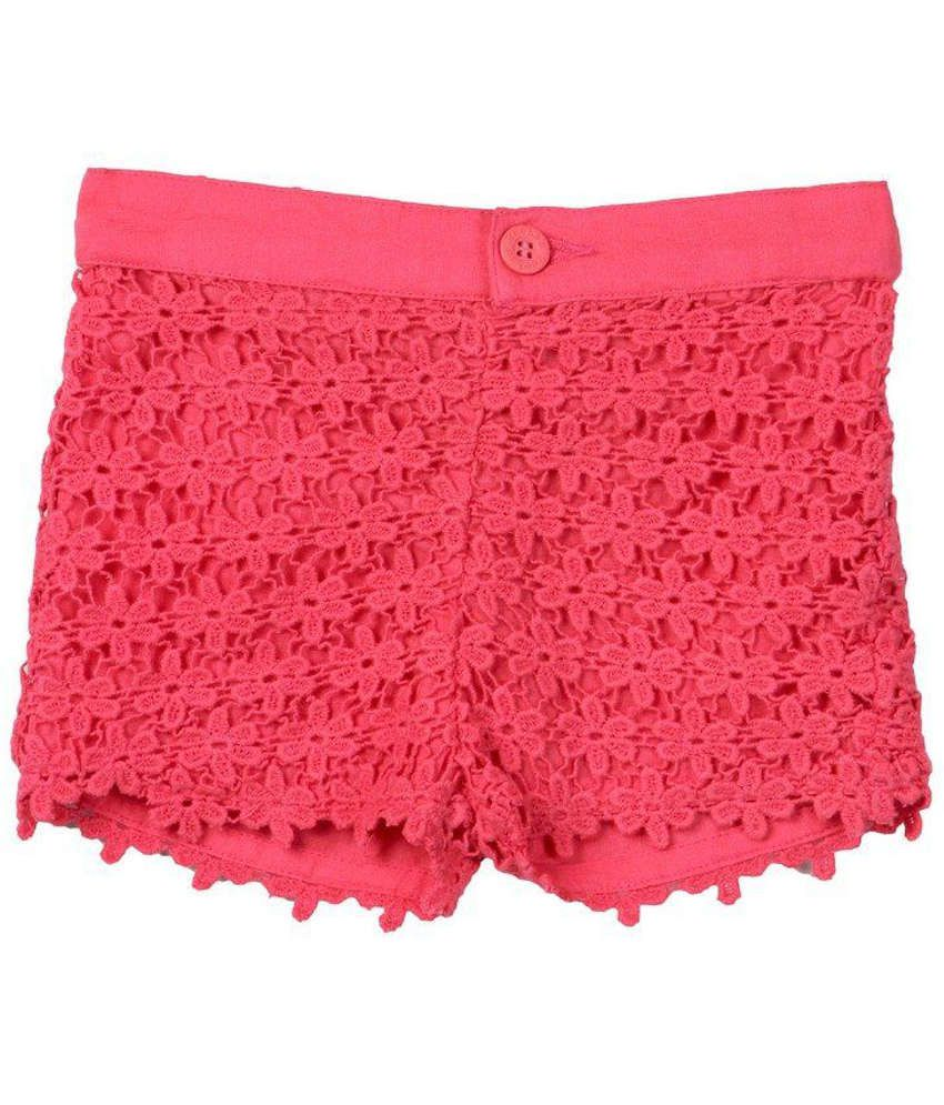 Beebay Cotton Pink Solids Shorts