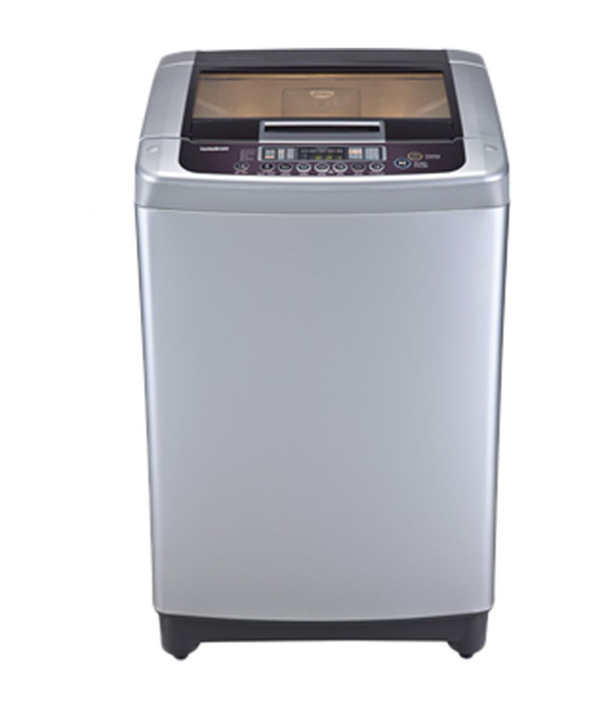 LG 7.0 Kg T8067TEELR Top Load Fully Automatic Washing Machine - Free Silver/Wine Black