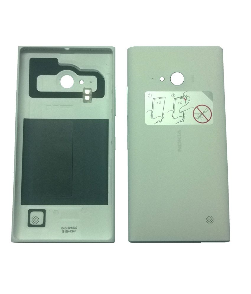 Nokia Original Back Panel For Nokia Lumia 730 Nfc White Plain