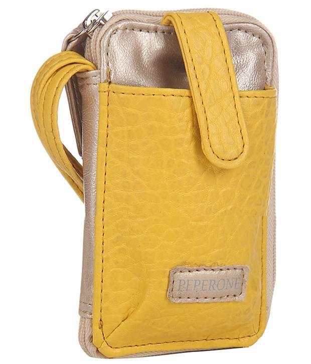 Peperone Noticeable Yellow & Beige Wallet