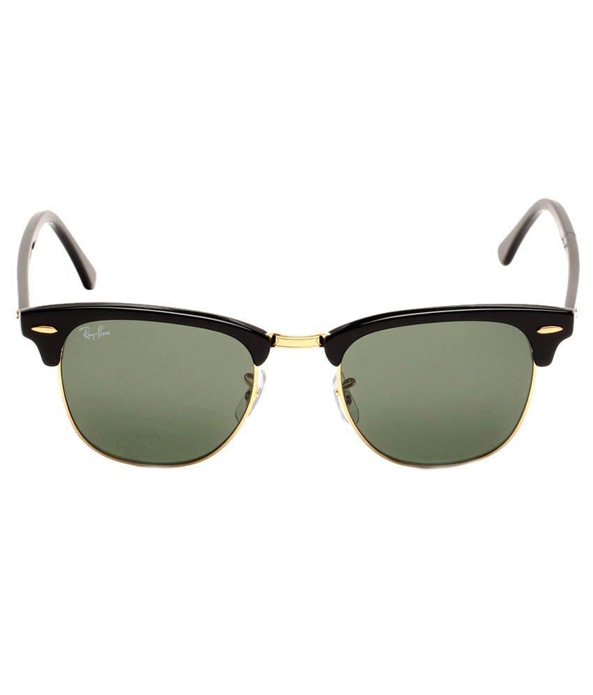ray ban rb3016 o971  Ray-Ban Green Clubmaster Sunglasses RB3016 W0365 51-21