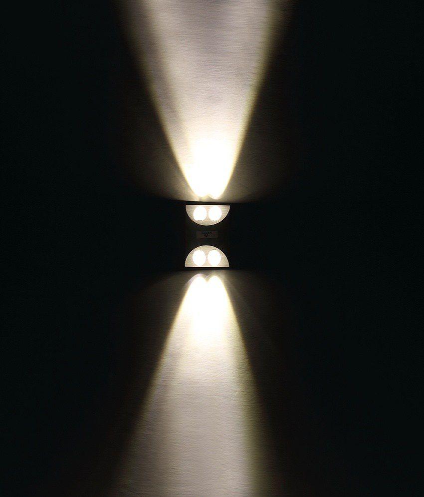 Cosmic Matte Square Aluminium Led Decorative 4w Wall Light Quad Warm Fluorescent Lamp Driver White3000k With