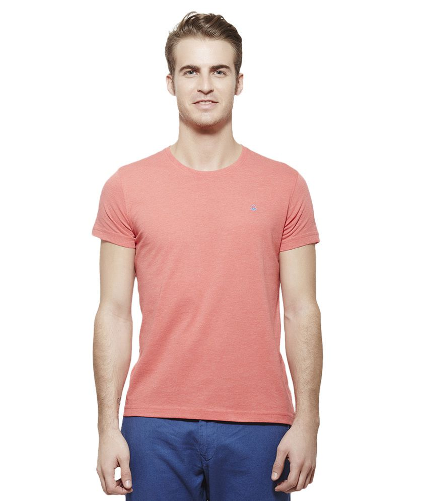 United Colors of Benetton Red Round Neck T Shirt